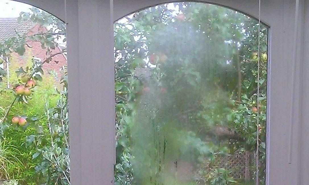 steamed window in Norwich, Norfolk